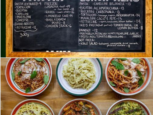 Pasta, Ice Cream and A Boutique SuperStore